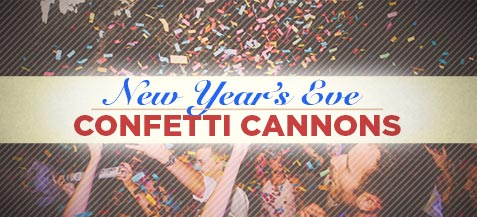 New Year's Eve Confetti Cannons