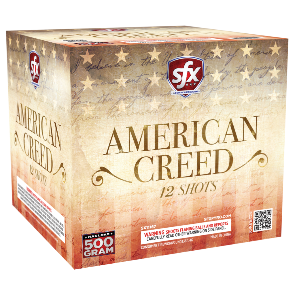 SFX American Creed, 500-gram Repeaters, SFX Fireworks