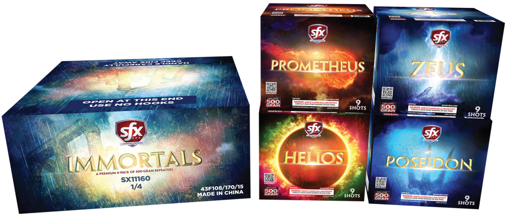 SFX Immortals, 500-gram Repeaters, SFX Fireworks