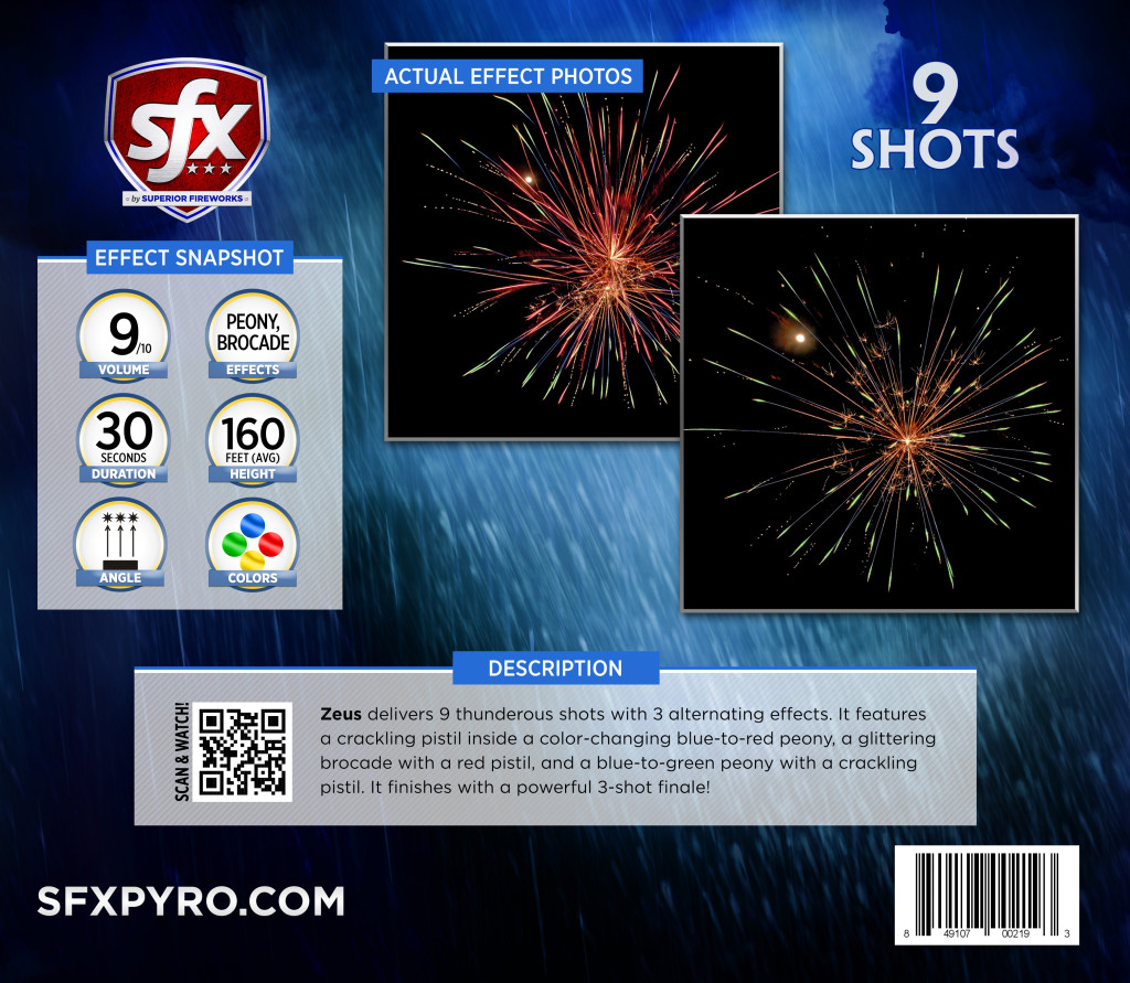 Info Panel, 500-gram repeaters, SFX Fireworks