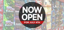 We're Open for July 4th