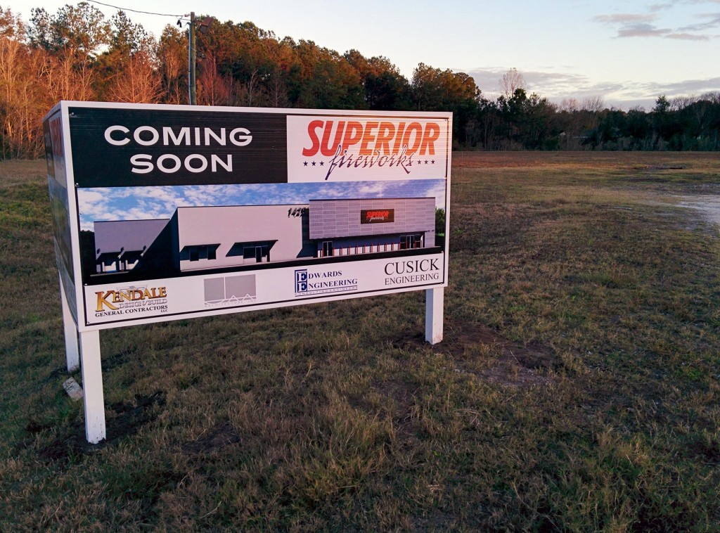 Superior Fireworks: New Property