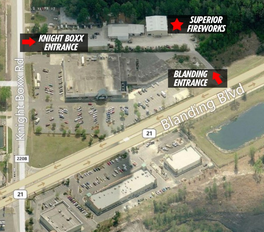 Superior Fireworks Warehouse Location
