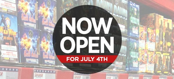 Now Open for July 4th