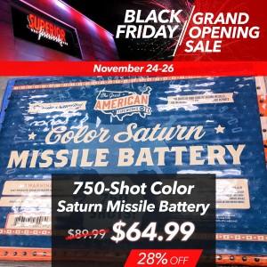 750-Shot Color Saturn Missile Battery