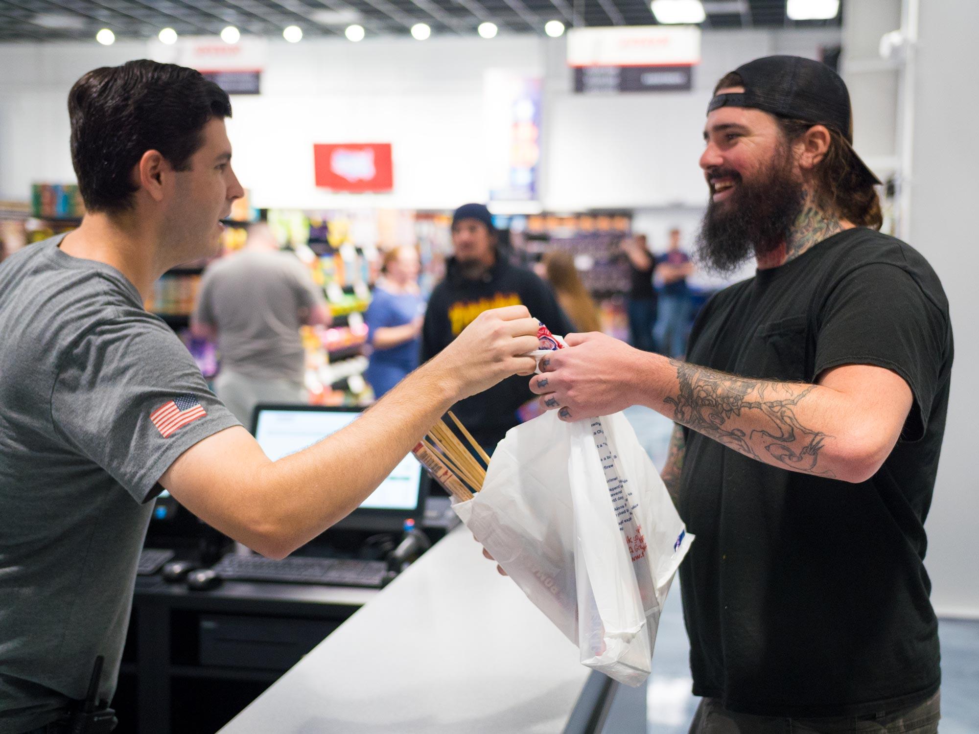 Josh with Customer
