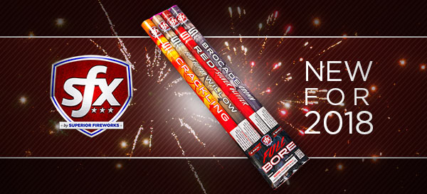 New for 2018: Full Bore Roman Candles by SFX Fireworks