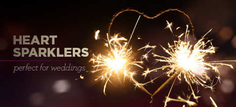 Heart Shaped Wedding Sparklers | Event Sparklers