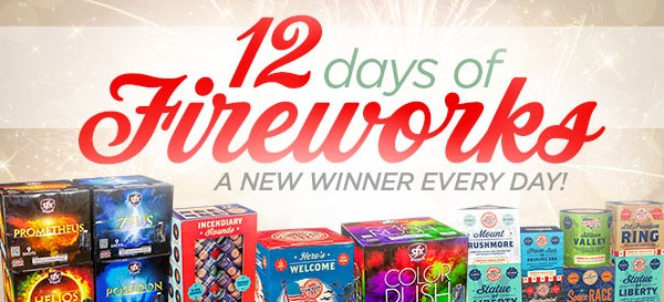 12 Days of Fireworks Giveaway!