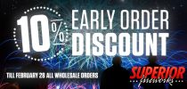 10% Early Order Discount