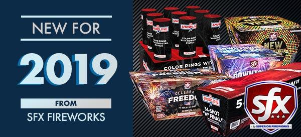 New for 2019: SFX Fireworks