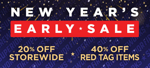 New Year's Early Sale at Superior Fireworks!