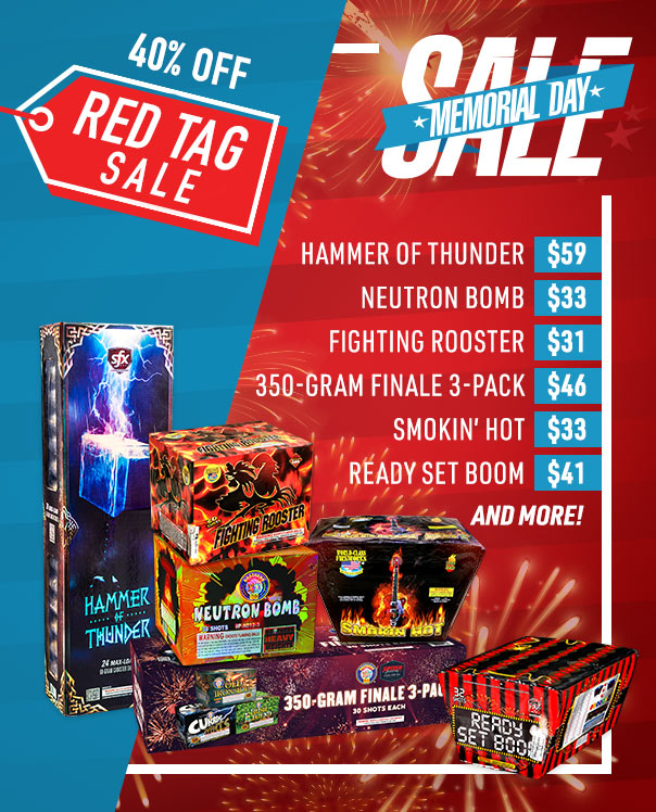 Memorial Day Red Tag Sale